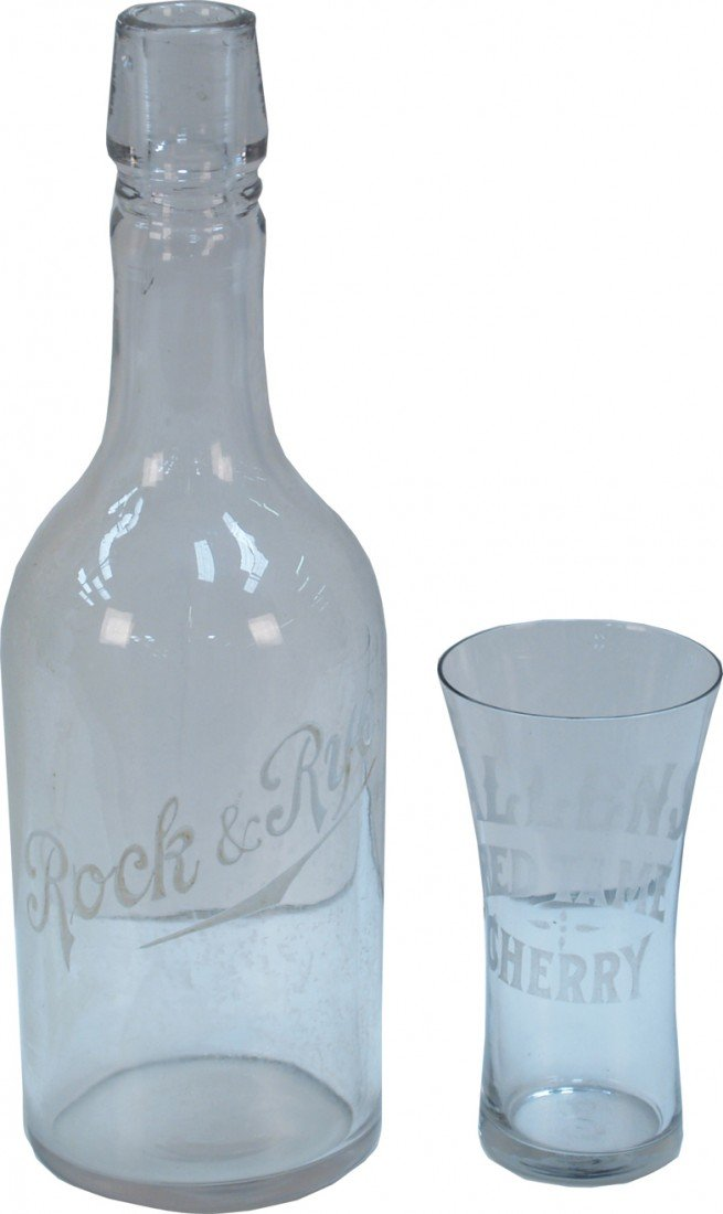 270: Lot Of 2 Vintage Glass Items: