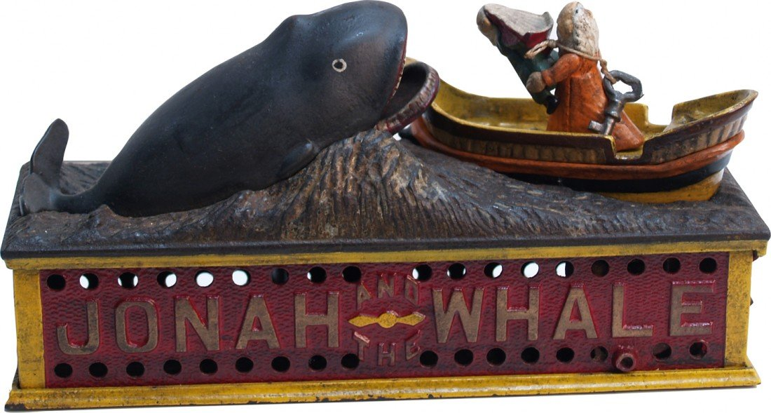 "274: Antique Cast-Iron Countertop ""Jonah And The Whale"""
