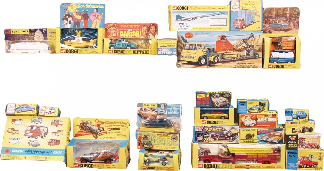 377: Box Lot of 25 Corgi Model Cars