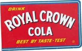 456: Drink Royal Crown Cola Double Sided Flange Tin Sig