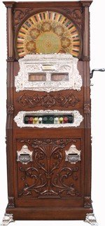 333: 25 Cent Mills Duplex Upright Slot Machine