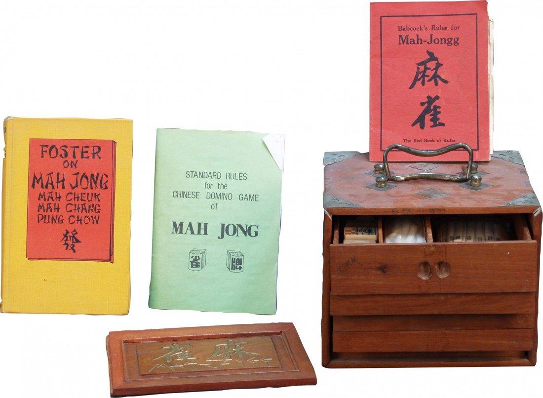 804: Vintage Ivory Mah Jong Set c1925