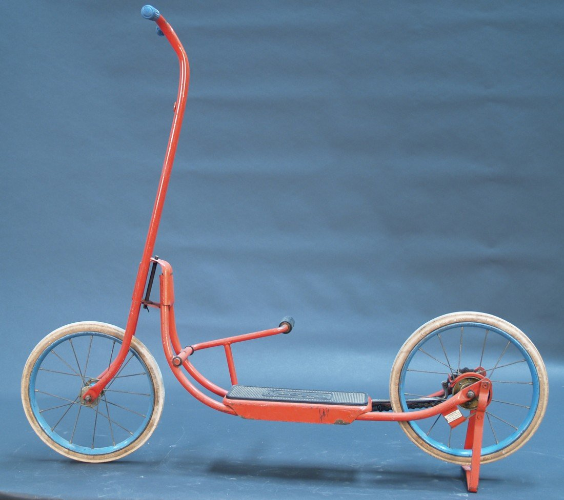 "810: Vintage Metal ""Tri-ang"" Pump Scooter"