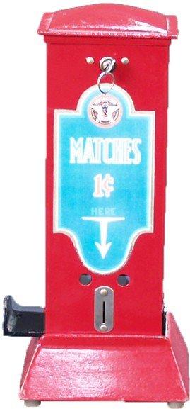 1 Cent Countertop Cast-Iron Match Vending Machine