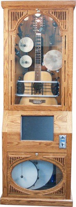 Coin-Op Floor Model Wood Case Ragtime Guitar Model