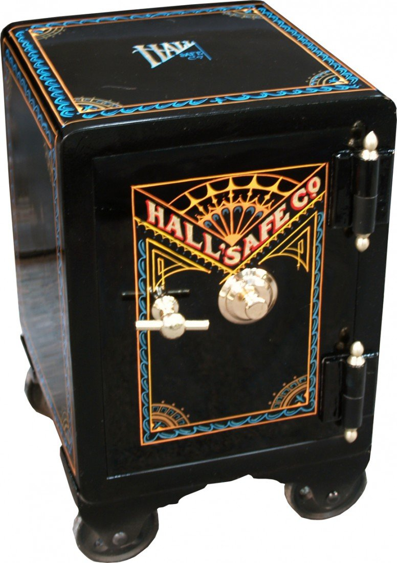 "1003: Restored Small ""Hall's""  Safe w/ Combination"
