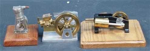 1115: Lot Of 3 Mini Steam Engine Models