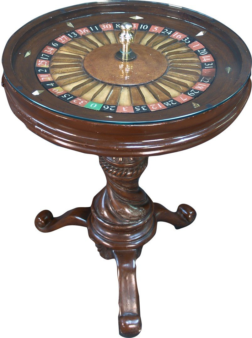 Small Roulette Wheel Side Table
