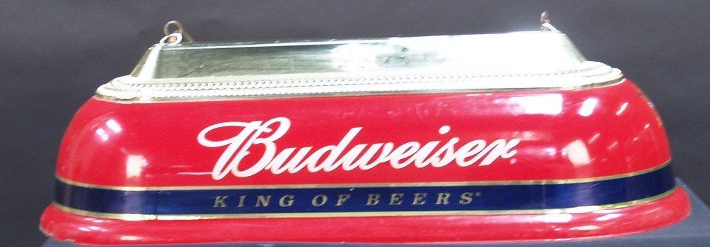 1249: Hanging Plastic Budweiser Pool Table Light