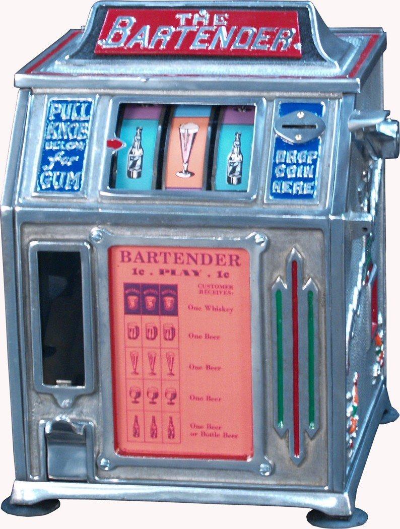 "2: 1 Cent Countertop ""The Bartender"" 3-Reel Gumball"
