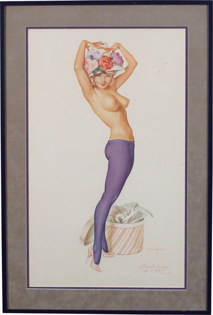 4: Original Limited Edition Print Of A Vargas Painting