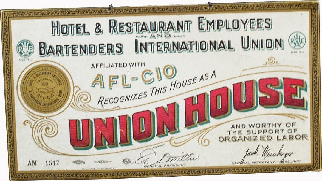 8: Union House Tin Sign