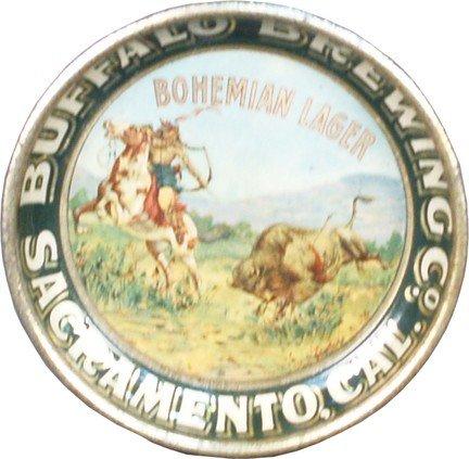 10: Buffalo Brewing Co. Sacramento, CAL. Tin Tip Tray