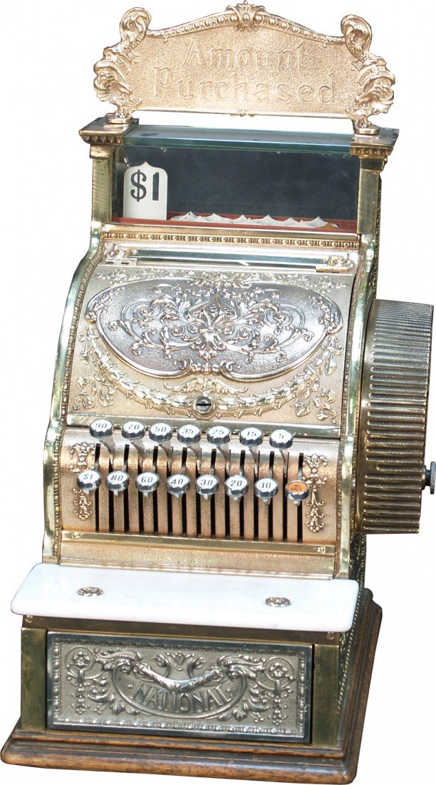 11: National Cash Register Model No. 313 Brass