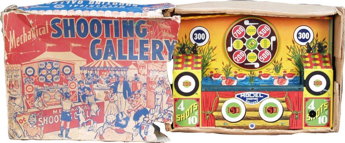 16: Vintage Metal Mechanical Shooting Gallery No. 3907