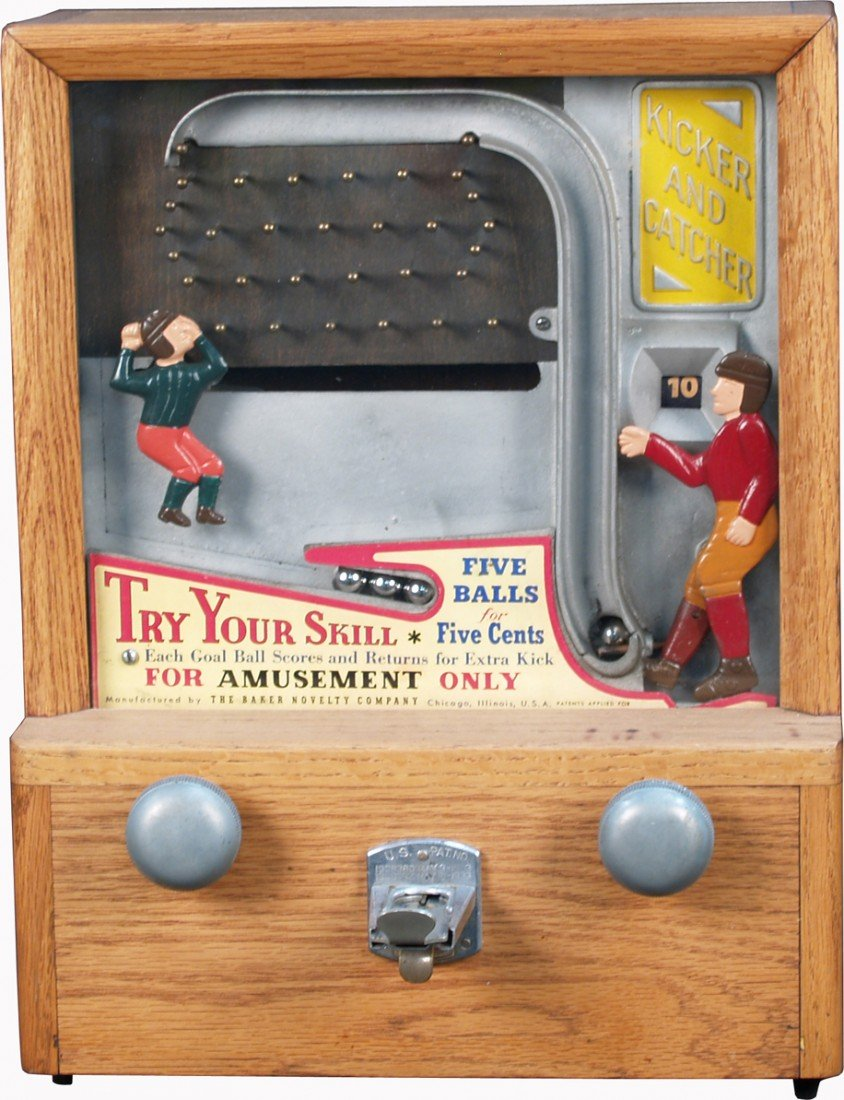 """22: 5 Cent Countertop Wood Case """"Kicker And Catcher"""""""