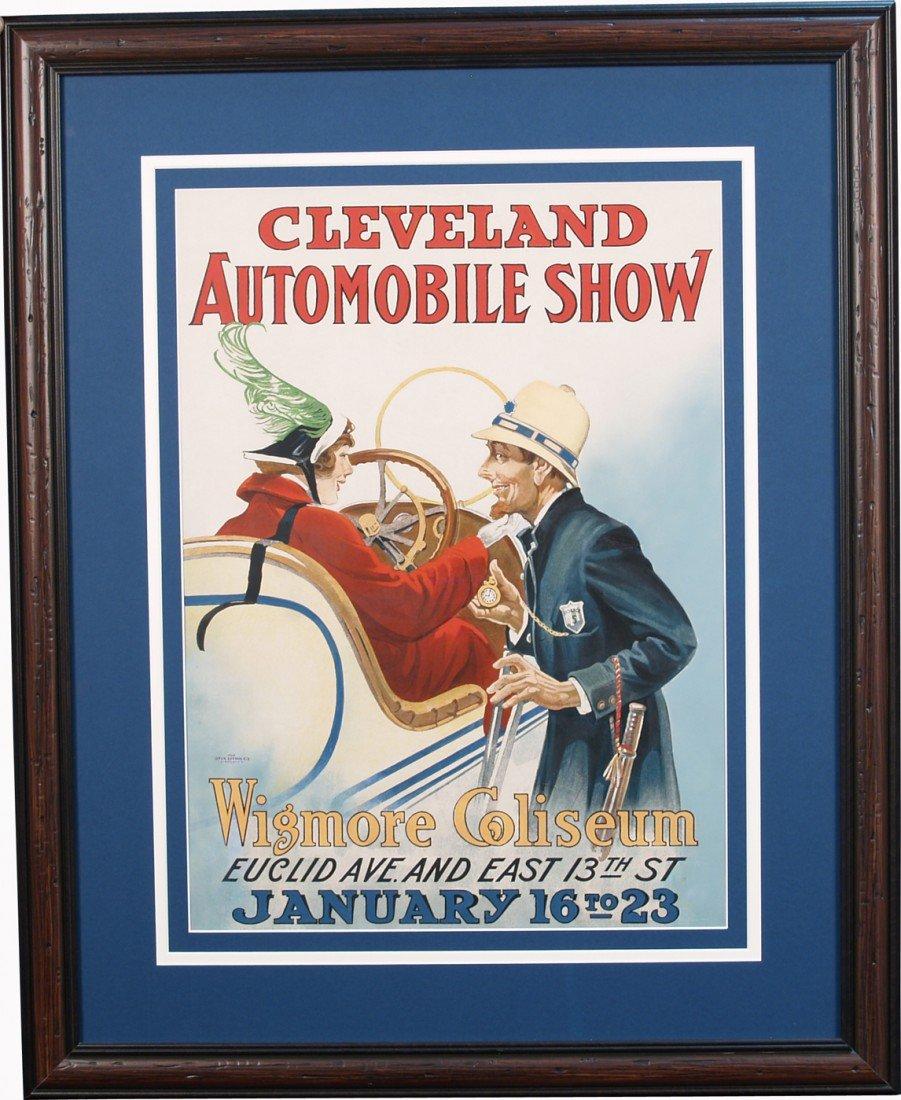 247: 1915 Cleveland Automobile Show Paper Poster