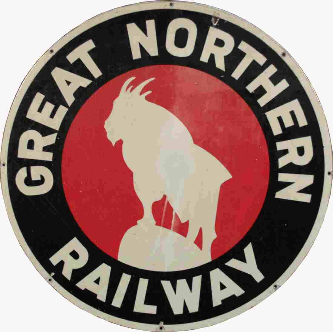 "315: ""Great Northern Railway"" Round Tin Sign"
