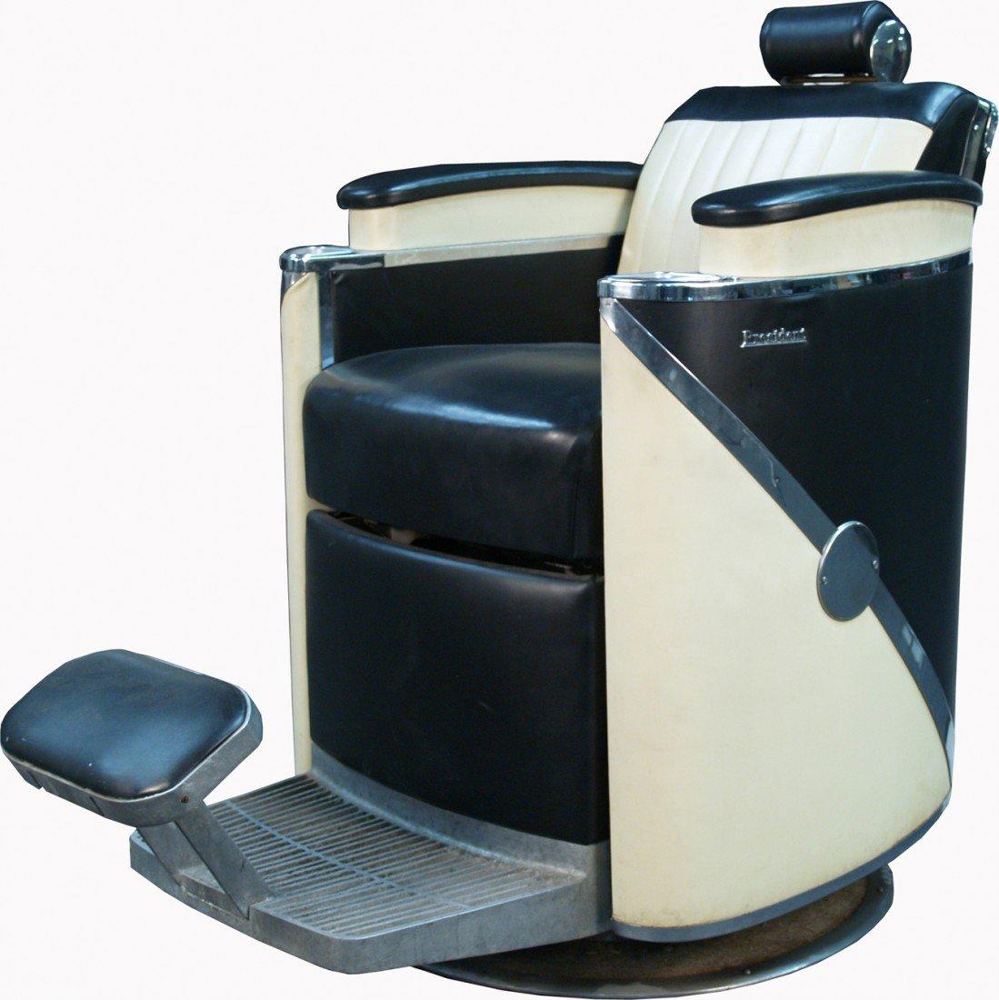 """Vintage Koken """"President"""" Barber Chair"""