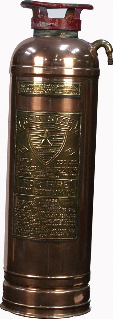 503: Early Red Star Model 303 Fire Extinguisher