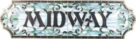 """MIDWAY"" Stained Glass Sign"