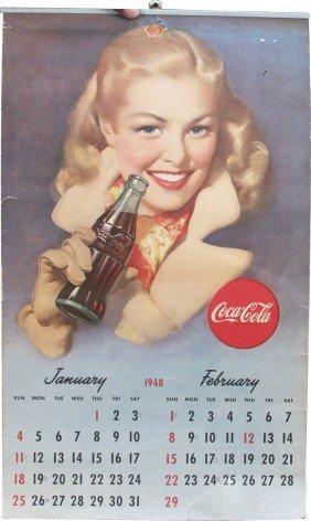 Coca Cola 1948 Paper Calendar