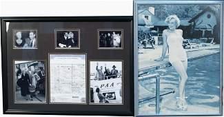 609 Lot Of 2 Marilyn Monroe Framed Items