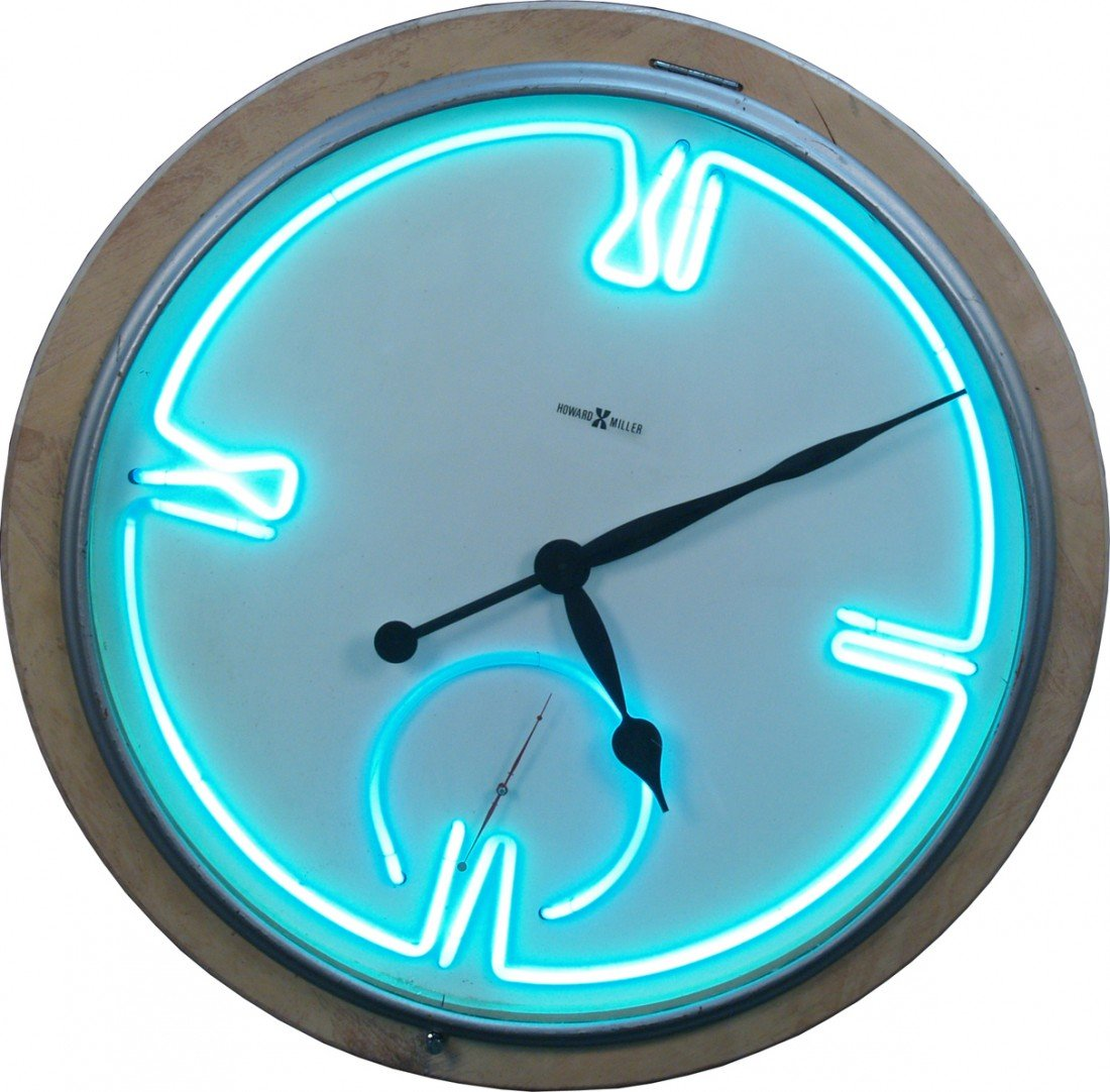 Very large wall mount howard miller neon clock 665a very large wall mount howard miller neon clock amipublicfo Image collections