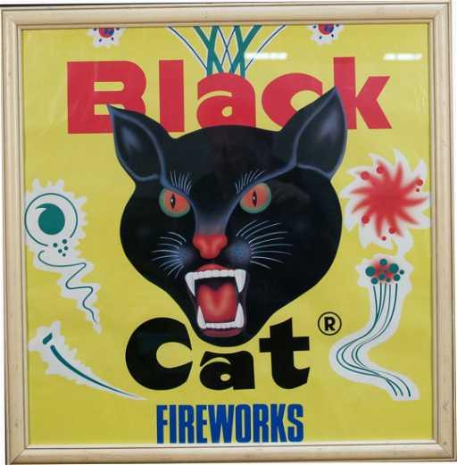 903: Black Cat Fireworks Poster
