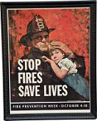 """212: Fire Prevention Week Oct. 4-10 Poster """"Stop Fires"""