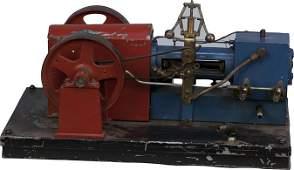 403: Chicago Miniature Steam Engine Model red/blue