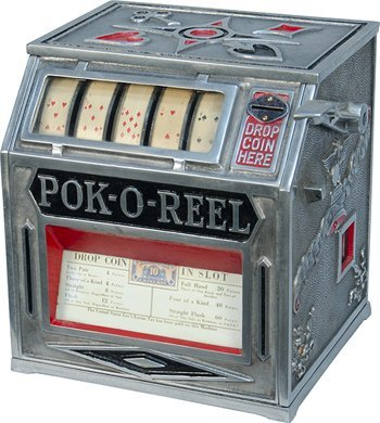 "501: 10 Cent Groetchen Tool & MFG. Co. ""POK-O-REEL"" Pok"