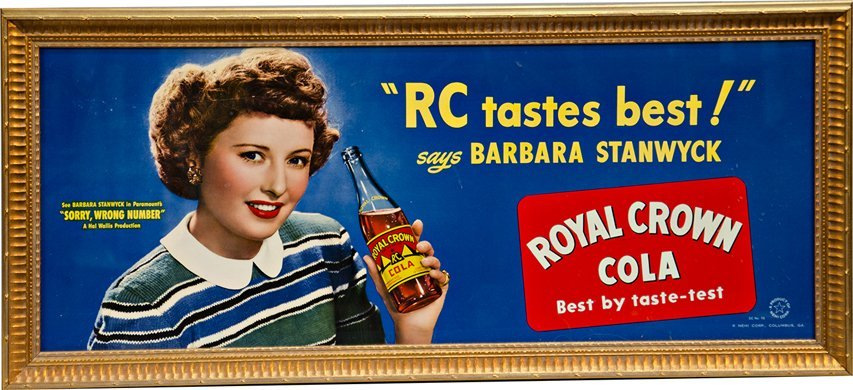 517: Lot Of 2 Royal Crown Cola Cardboard Signs: