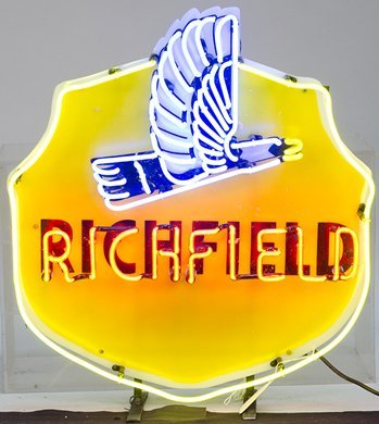 "577: ""Richfield"" Oil Company Die-Cut Hard Plastic & Neo"