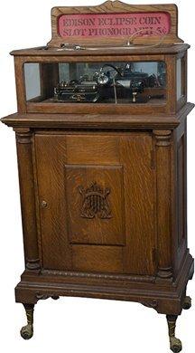 "756: 5 Cent Thomas A. Edison ""Eclipse"" Wax Cylinder Pla"