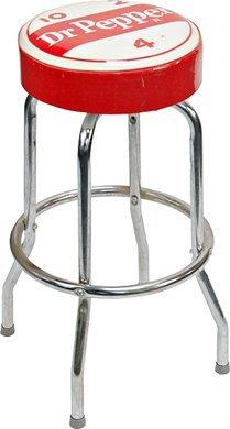 1016: Vintage Dr. Pepper Soda Fountain Counter Bar Stoo