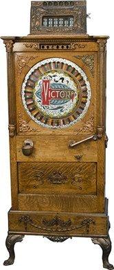 """1206: 25 Cent Victor Novelty Works """"Victor"""" Floor Singl"""
