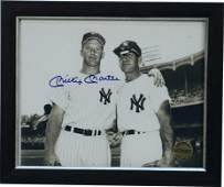1350: New York Yankees Mickey Mantle Signed Black & Whi