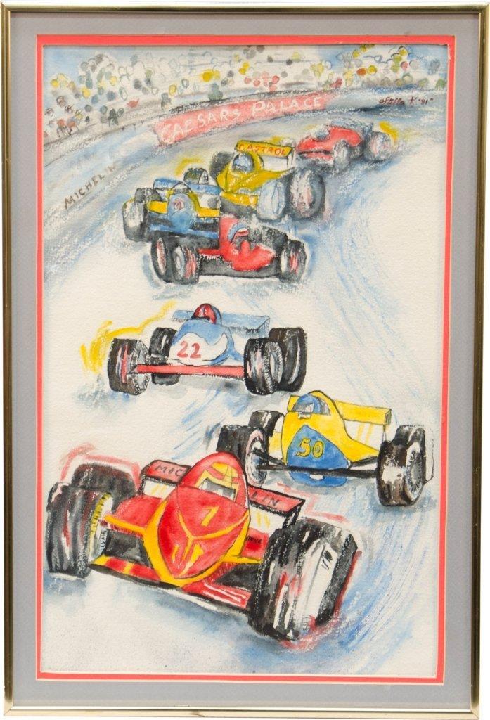 3: Caesars Palace Grand Prix Watercolor