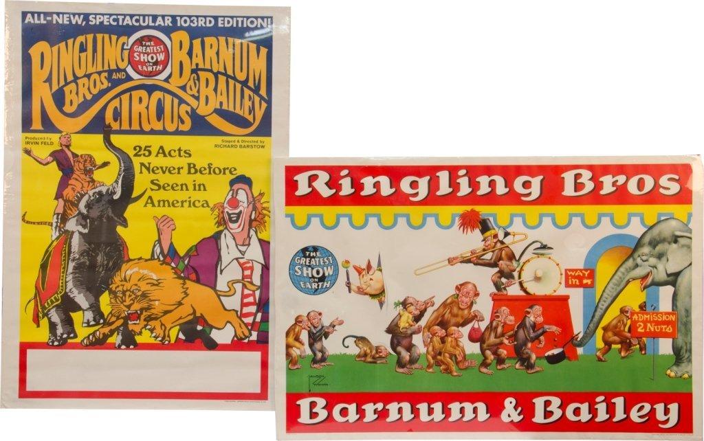 14: Lot Of 2 Original Vintage Ringling Bros. And Barnum