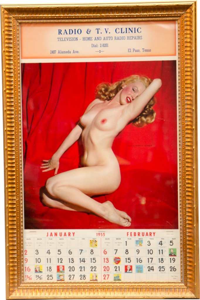 17: Marilyn Monroe Color Nude Pin Up Calendar January/F