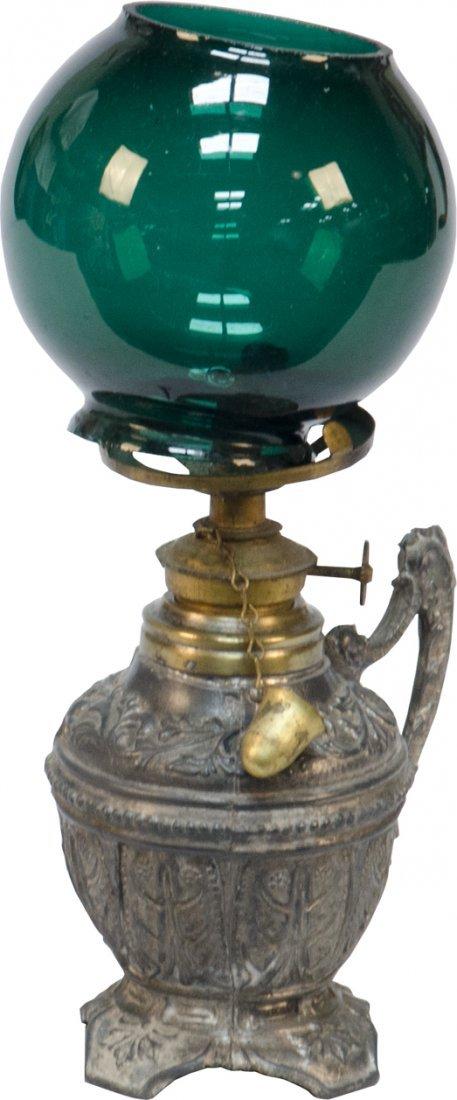 21: Early Ornate Pot Metal Counter Cigar Lighter