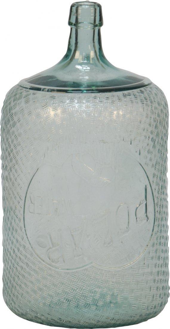 "157: Vintage ""Polar Water"" Embossed Glass Globe"