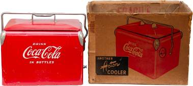 271 Red CocaCola Metal Ice Chest wHandle  Removable