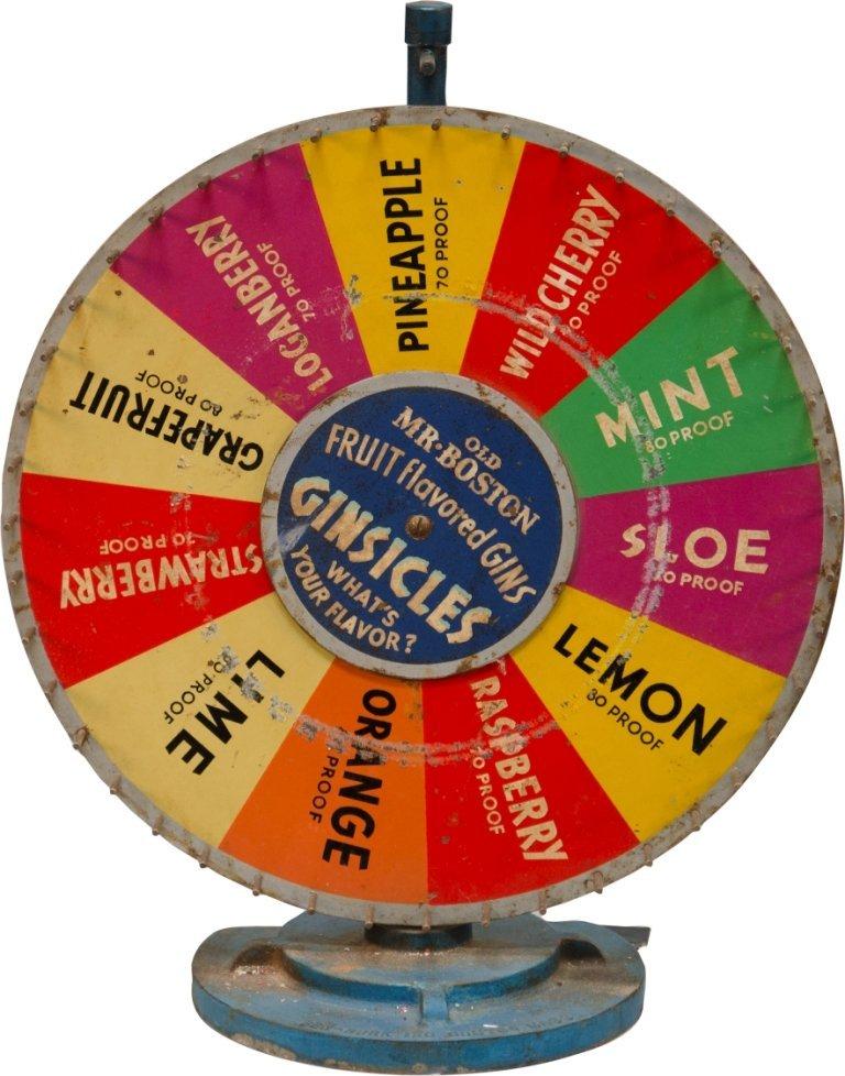 291: Vintage Prohibition-Era GINSICLES Roulette Wheel b