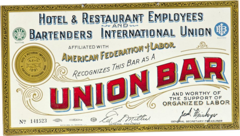 304: Union Bar No. 141523 Tin Sign