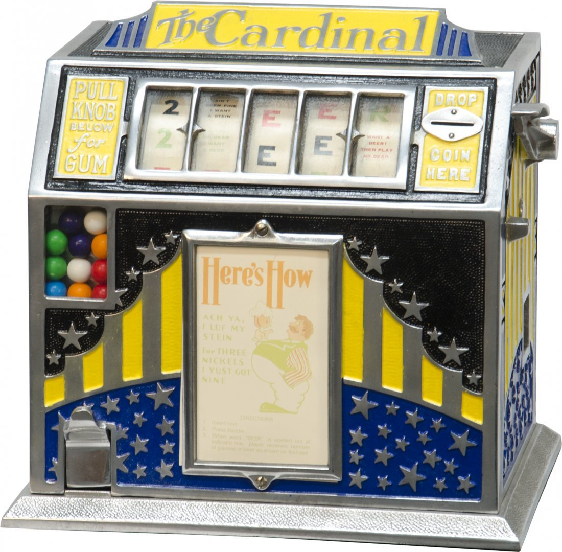 "308: Five Cent ""The Cardinal"" Trade Stimulator w/Keys a"