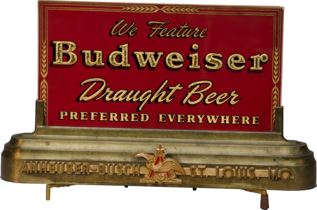 309: Early Budweiser - Anheuser Busch Bar Counter Light