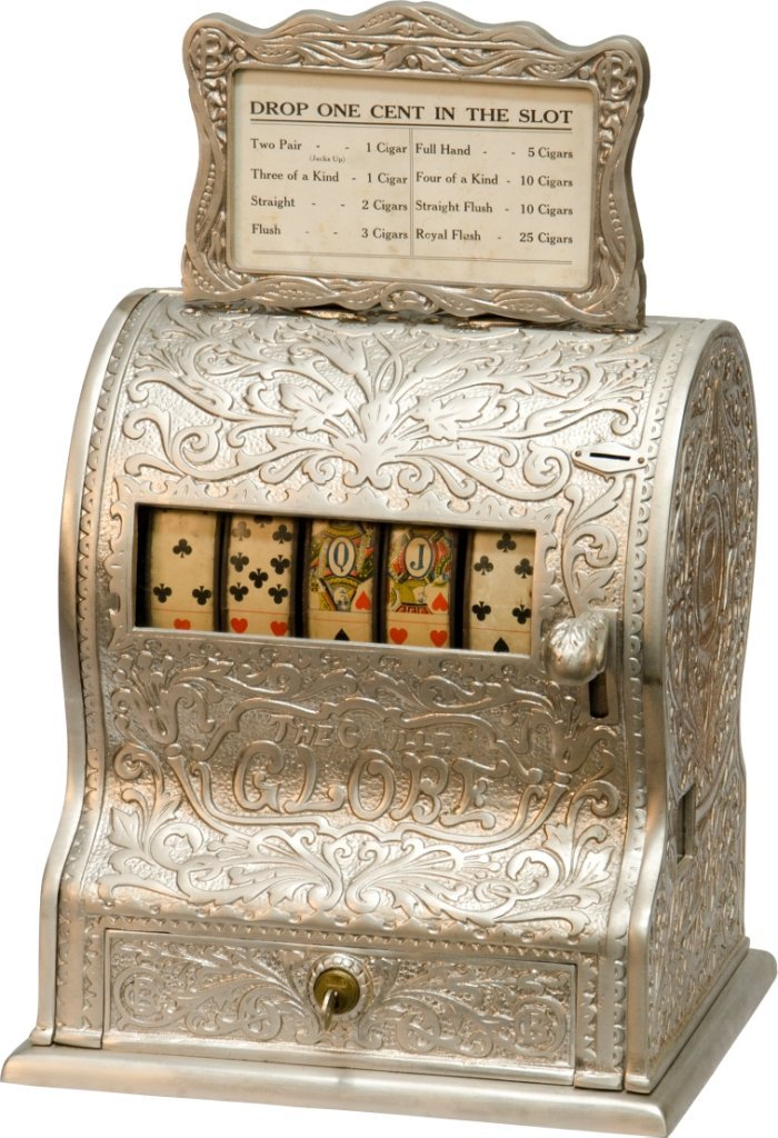 """500: 1 Cent """"The Caille Globe"""" Poker Hand 5-Reel Trade"""