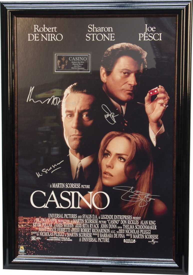 """685: """"CASINO"""" Movie Poster w/ Autographs From"""